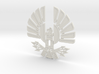 'Mockingjay' Panem Sigil Pendant for neclace 3d printed White Strong & Flexible