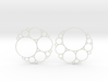 Bubbly Apollonian Earrings 3d printed