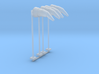 Airport Windsock and Pole (x4) 1/200 3d printed
