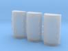 1/350th scale Nissen hut (3 pieces) 3d printed