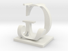 Two way letter / initial J&G size XL 3d printed
