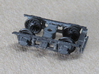 EBT Coach 9 truck solid bearing for Kadee wheelset 3d printed Shown with brake beam on one end.