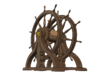 1/72 Ship Wheel (Helm) for USS Constitution 3d printed Painting suggestion.