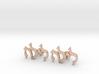 "Hebrew Name Cufflinks - ""Lyla"" 3d printed"