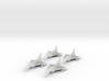 1/700 Mirage 2000D x4 (FUD) 3d printed