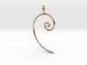 Fibonacci spiral, according to the golden ratio 3d printed