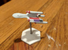 3788 Scale Romulan SparrowHawk-J Assault Cruiser 3d printed Ship (Smooth Fine Detail Plastic) painted by a fan. Stand not included.