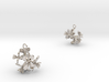 Radish earring with five small flowers 3d printed