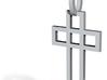 Cruz elegante Ouro 18K 3d printed