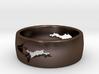 Upper Peninsula Comfort-Fit Ring  3d printed
