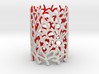 Coraline Tealight White/Red Sandstone 3d printed