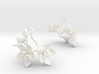 Apple earring with three large flowers 3d printed