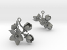 Apple earring with four large flowers 3d printed