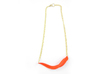 Arithmetic Necklace (Bar) 3d printed Custom Dyed Color (Coral)