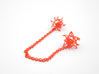 Aster Collar Tips 3d printed Custom Dyed Color (Coral)