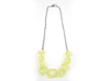 Sprouted Spirals Necklace (Chain) 3d printed Custom Dyed Color (Key Lime)