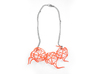 Aster Necklace 3d printed Custom Dyed Colors (Coral)