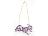 Aster Necklace 3d printed Custom Dyed Colors (Eggplant)