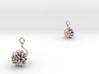 Dhalia earring with one medium flower 3d printed