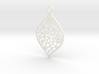 Floral Pendant / Earring 3d printed