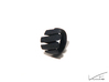 Curl ring 4 parallel lines // US8 - LARGE 3d printed Black Strong & Flexible