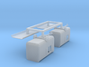 2 construction trailers (1:160) 3d printed