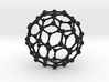 C60 Buckminsterfullerene model 3d printed