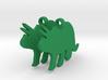 Triceratops earrings 3d printed