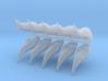 Space Elf - Eldar - Wraith Helm - With Gems x 5/10 3d printed