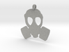Gas Mask necklace charm 3d printed