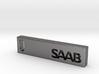 Saab Billet Keychain 3d printed