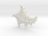 3D Fractal Sea Shell Pendant 3d printed