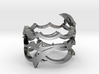 3 Dolphins Dancing Ring  3d printed