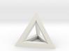 Hollow Pyramid Pendant 3d printed