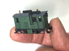"""Free-lance Nn3 Four Wheel """"Critter"""" 3d printed Completed kit; power chassis, couplers, bras ladder, figure, glazing, decals not included."""