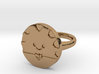 Peppermint Butler Ring (Medium) 3d printed