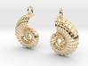 Nautilus Shell Earrings 3d printed