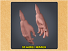 1:9 Scale Hands 3d printed