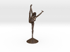 Joyful Dancer with long hair in shorts and halter 3d printed
