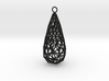twisted teardrop lattice earring 1 3d printed