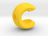 C sphere pendant half a tennis ball 3d printed