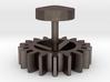 Single Gear Cufflink 3d printed