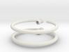 Glass Charm 2 Rings 3d printed