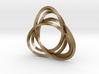 Tri mobius twin rail - pendant 3d printed