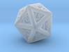 Piped D20 3d printed