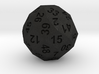 50-side dice (solid core) 3d printed