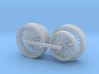 1000-1 Fowler Plough Engine Wheels 1:87 3d printed