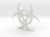 Biohazard pendant 3d printed