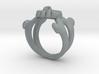 Skull & Crossbones Ring (S) 3d printed