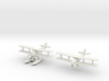 Fairey IIIF 2 airplanes (MarkI & MkIII) 1/285 6mm 3d printed